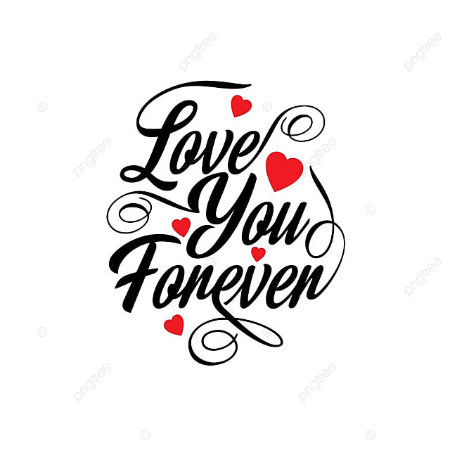 Love You Forever Typographic Card, Text, Type, Typography