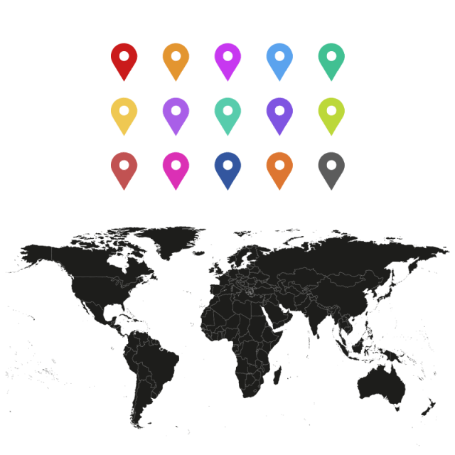 Fill World Map With Pin Vector PNG And PSD Fill World