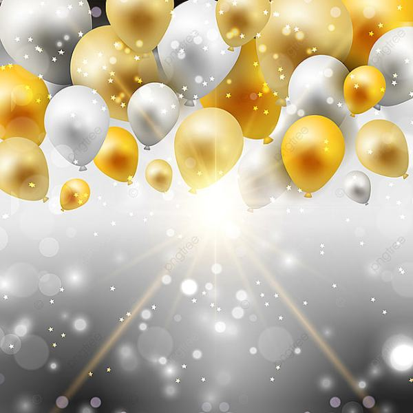 gold and silver balloons 0307