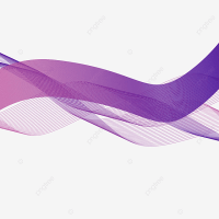 Abstract Purple Wavy Shapes Transparent Background ...