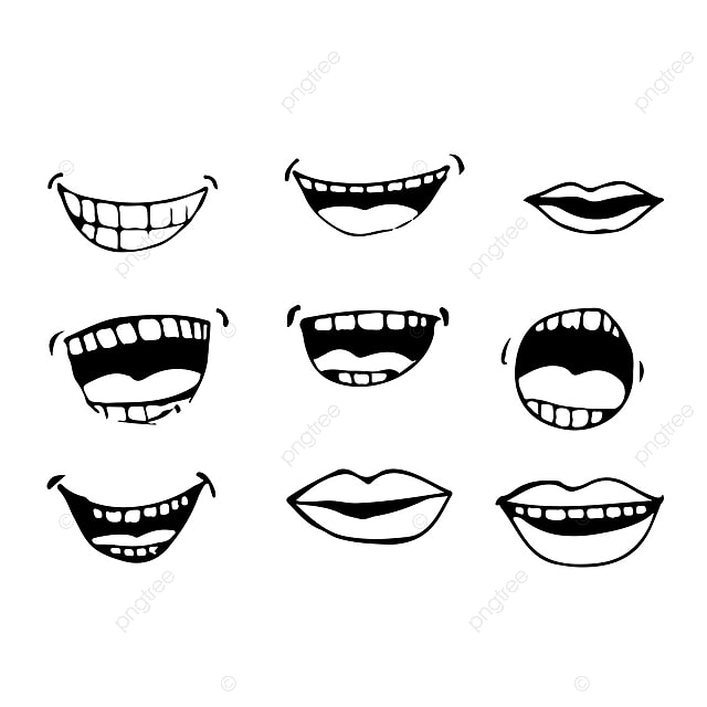 Cartoon Mouth Icon, Cartoon, Set, Mouth PNG and Vector