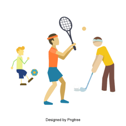 cartoon sports exercise fitness basketball clipart deportes ejercicio table tennis psd tenis use dibujos golf animados pngtree transparent upgrade vectors