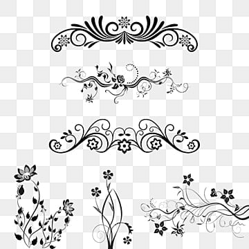 floral ornaments png images