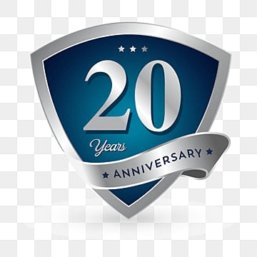 20th Anniversary Png Vector PSD And Clipart With Transparent Background For Free Download