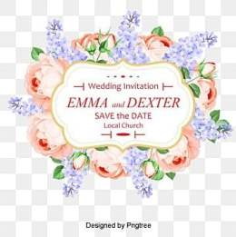 Pattern Wedding Greeting Cards Invitations Png And Psd