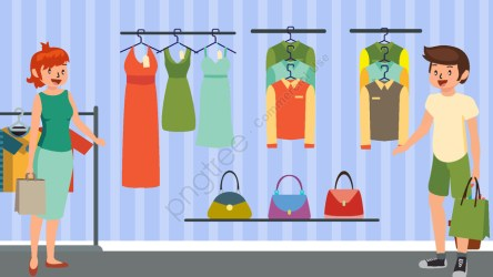 Shopping Mall Cartoon Vector Illustration Clothes Shop Shopping Female Illustration Image on Pngtree Free Download on Pngtree