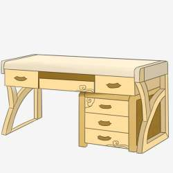 Yellow Desk Wood Desk Hand Drawn Desk Cartoon Desk Beautiful Desk Student Desk Yellow Desk PNG Transparent Clipart Image and PSD File for Free Download