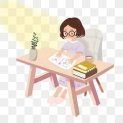 Illustration Kids Studying PNG Transparent Background Little Girl Are Studying On Trees Vector Illustration Images Vector PSD Files