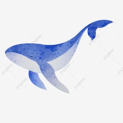 A Blue Swimming Whale Cartoon Element One Blue Swim PNG Transparent Clipart Image and PSD File for Free Download