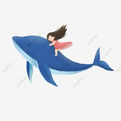 Cartoon Blue Whale Element Whale Cartoon Animal PNG Transparent Image and Clipart for Free Download
