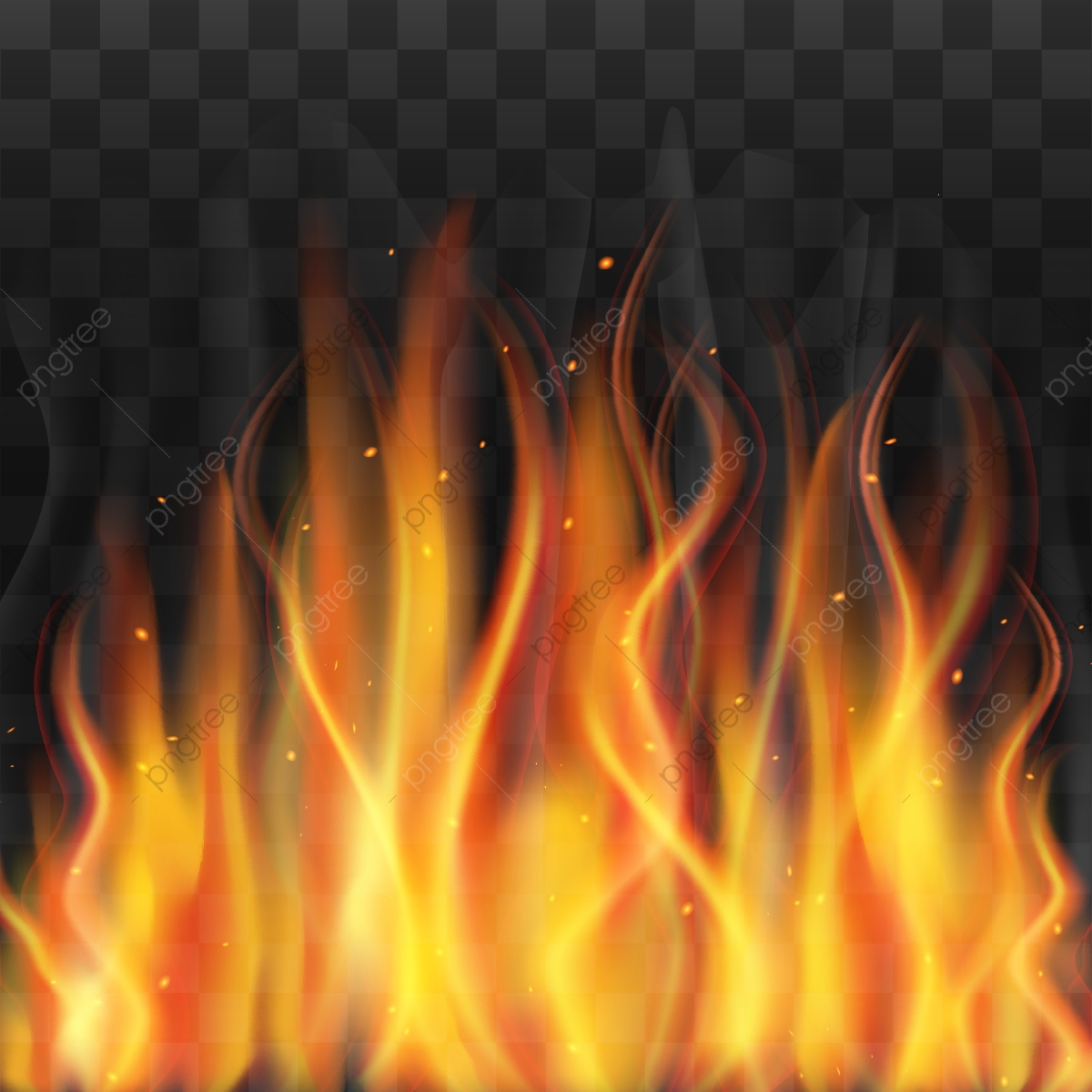 creative realistic fire with