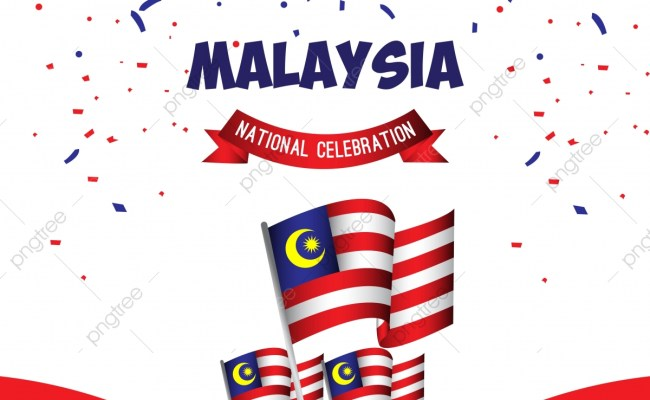 Malaysia National Celebration Poster Vector Template