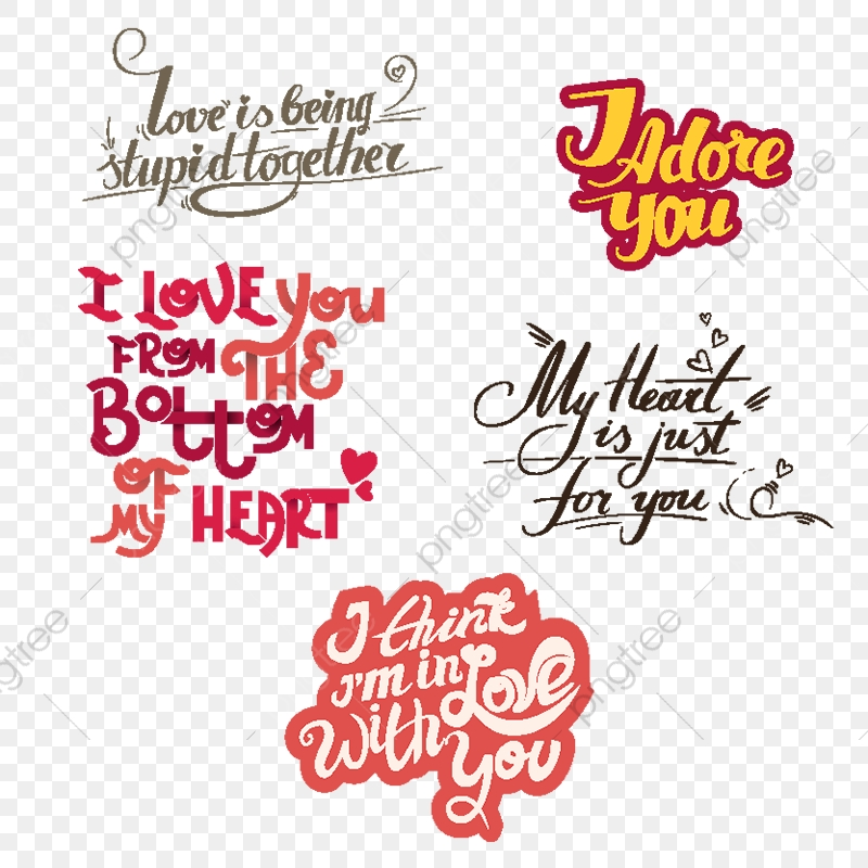 Download Vector Lettering Collection With Quotes About Love, Card ...