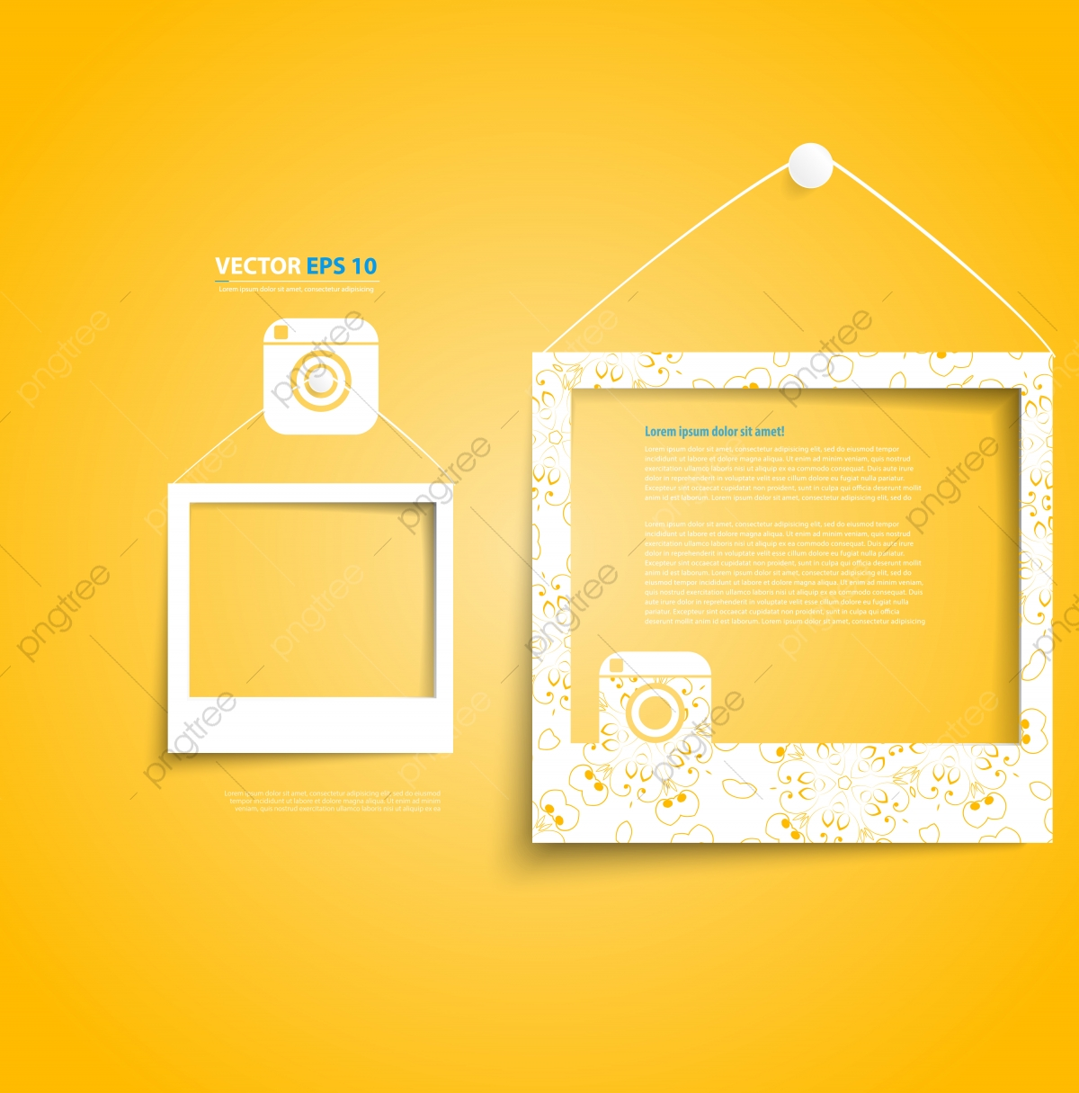 Picture Frames On Yellow Wall