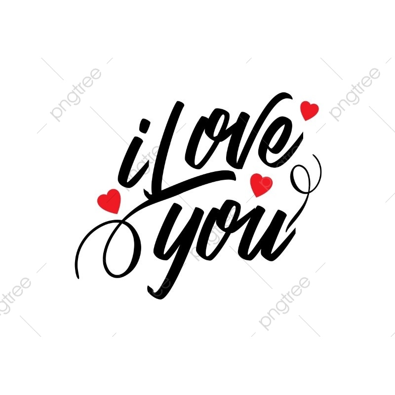 Download I Love You Typographic Vector, Concept, Date, Decoration ...