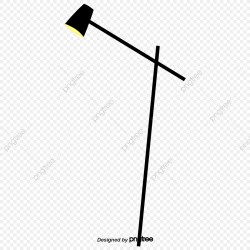 Black Cartoon Vertical Table Lamp Cartoon Bedroom Desk Lamp PNG Transparent Clipart Image and PSD File for Free Download