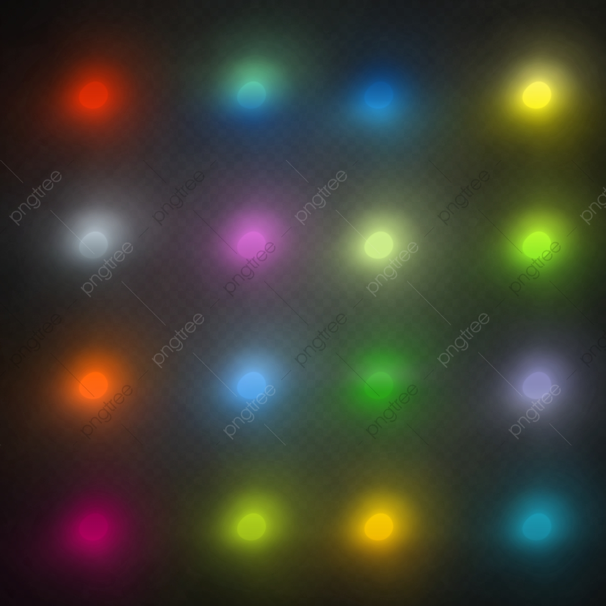 colorful dots light effects