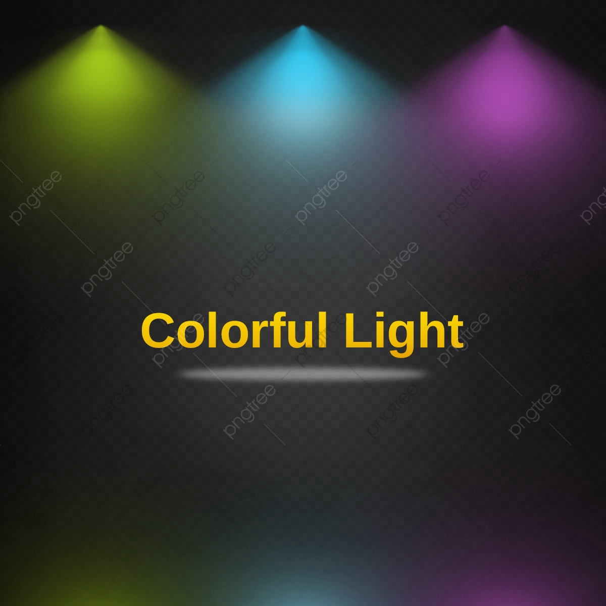 colorful spotlight effects with