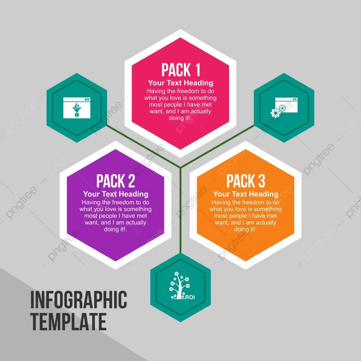 creative infographics design template