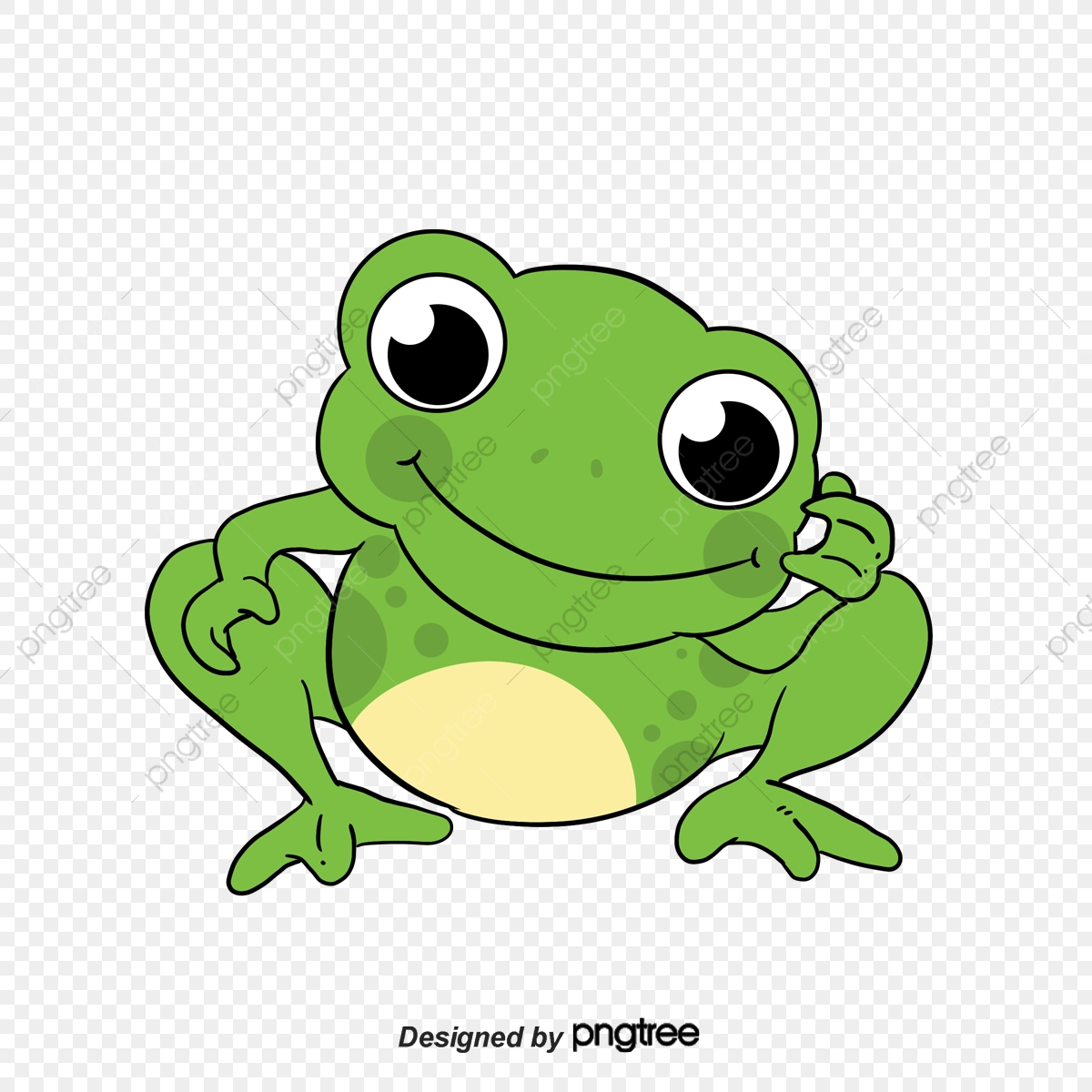 funny little green frog