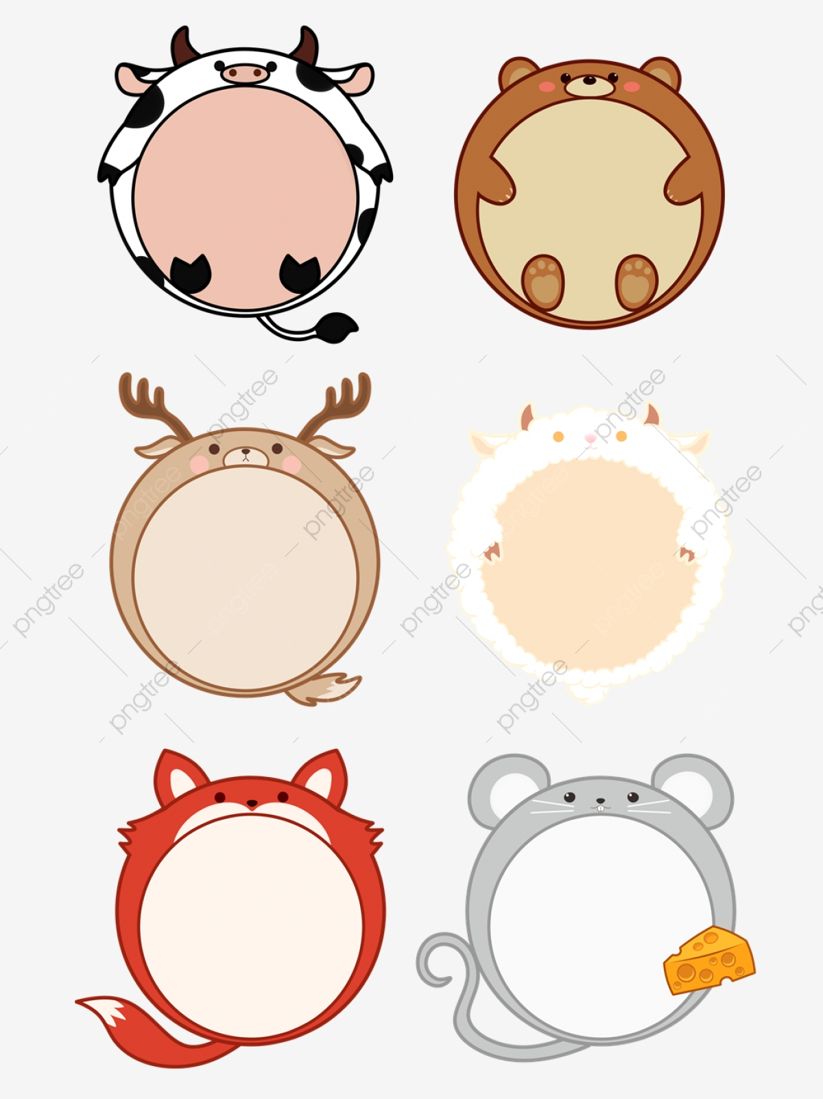 Cute Animals Png : animals, Animals, Vector,, Clipart, Transparent, Background, Download, Pngtree