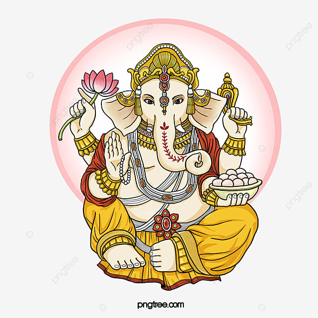 Hand Painted Elephant Head God Ganesha Personal Body Faith India Png Transparent Clipart Image And Psd File For Free Download