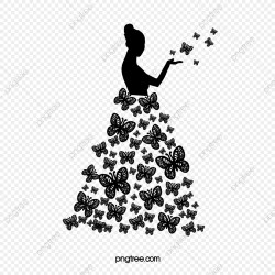 Black And White Butterfly Beautiful Silhouette Black And White Butterfly Beauty PNG Transparent Clipart Image and PSD File for Free Download