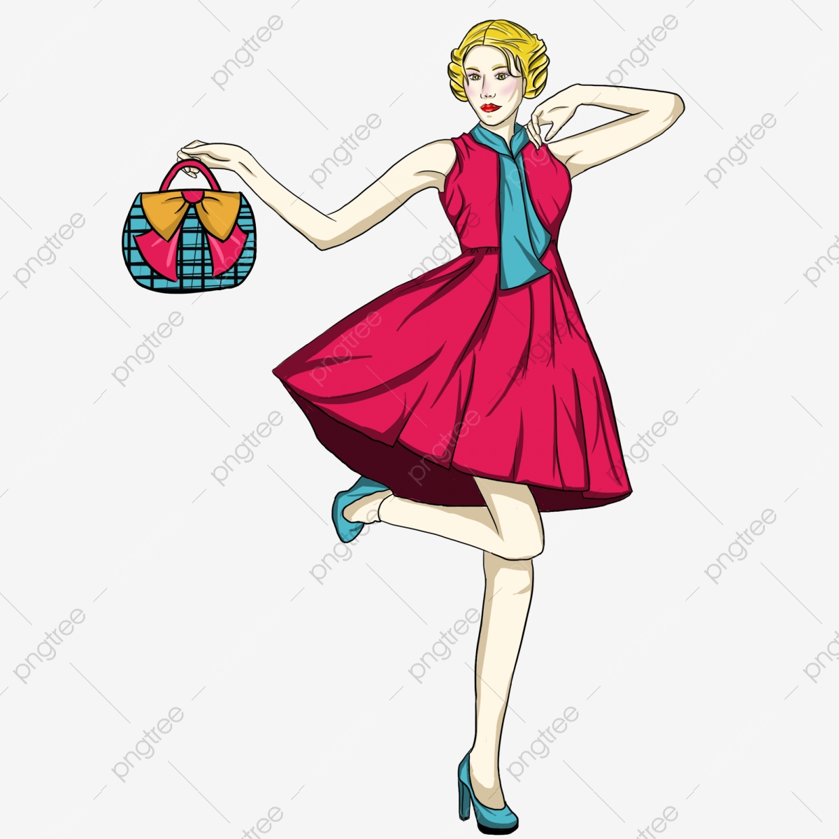 hight resolution of fashion girl pattern gratis png y clipart