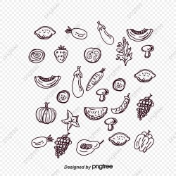 Black And White Variety Of Food Black Vector Food Vector Vector Diagram PNG Transparent Clipart Image and PSD File for Free Download