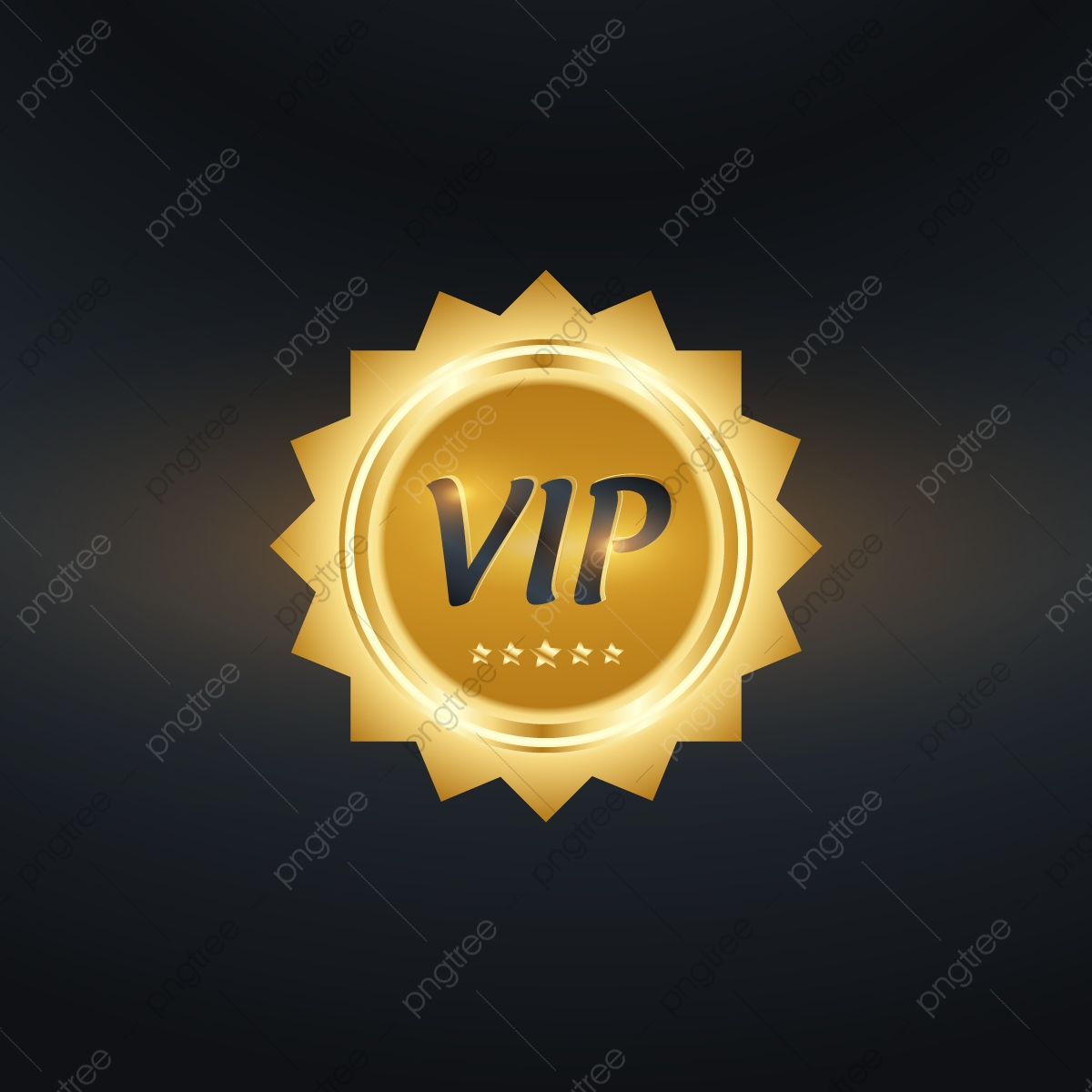 golden vip badges business