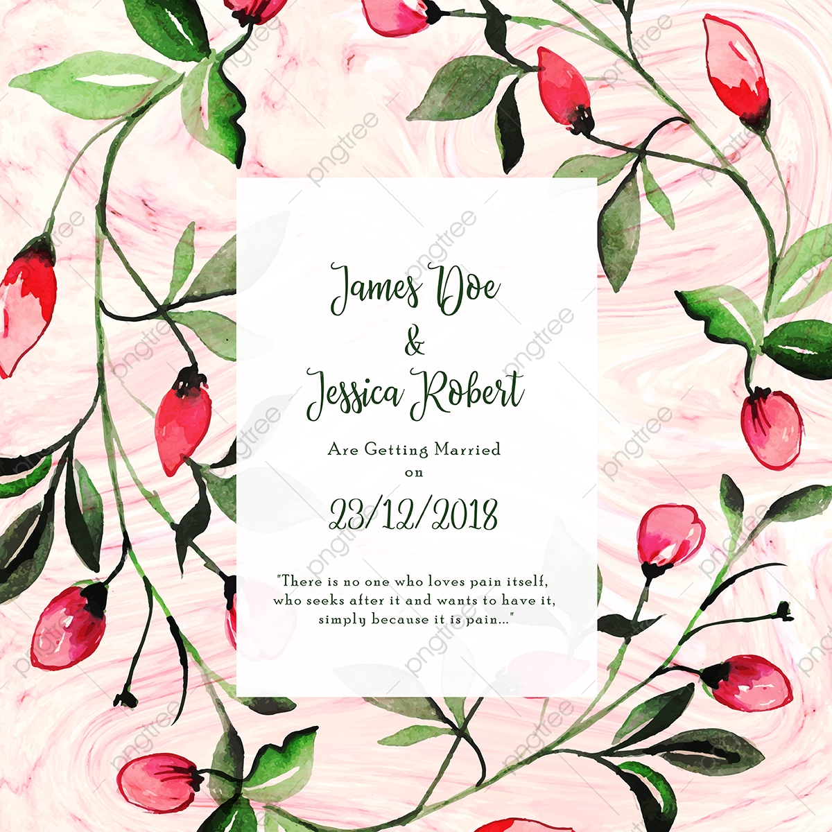 https pngtree com freepng abstract marble texture with floral wedding invitation card template 3617526 html