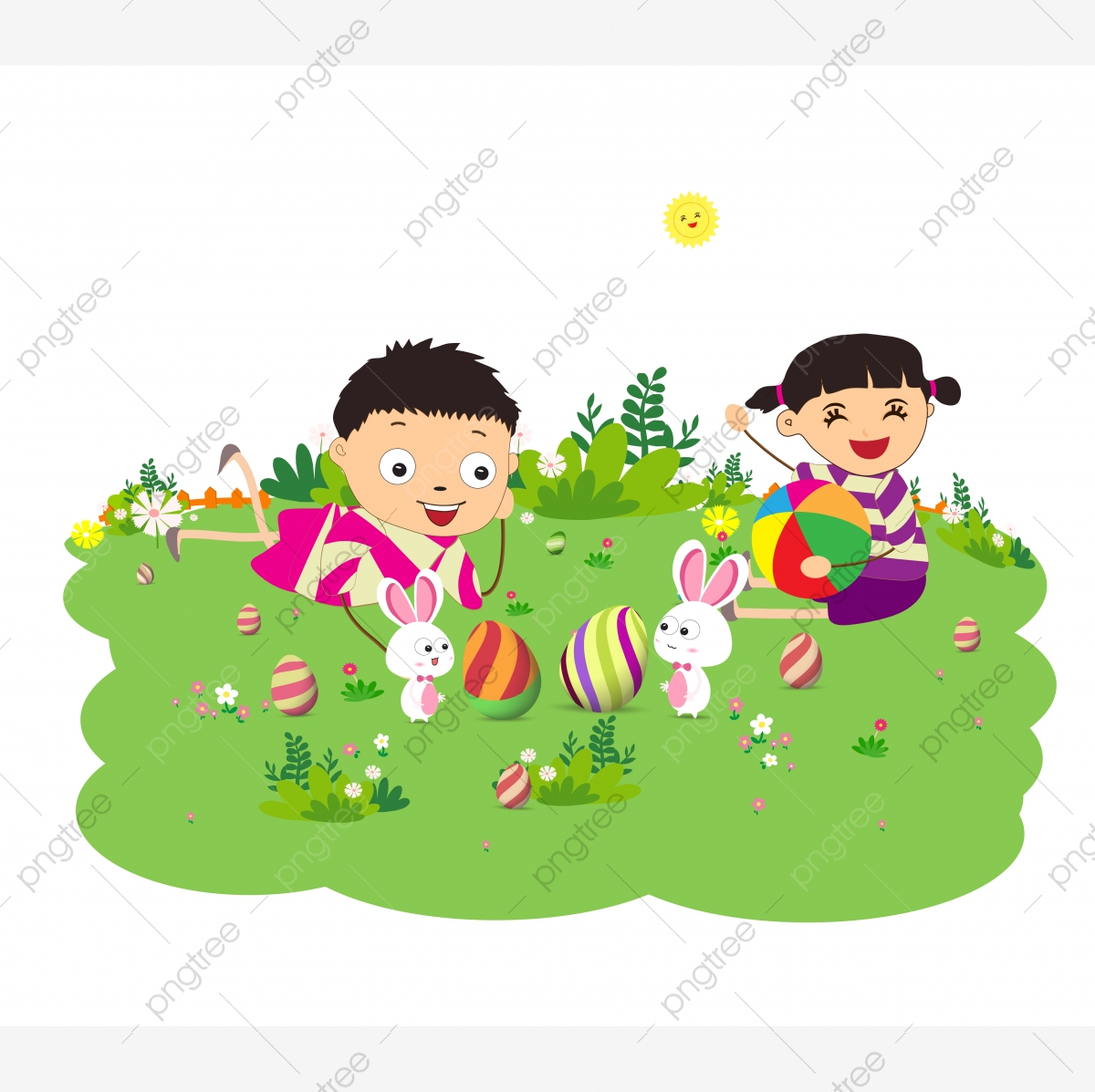 Funny Easter Background Free