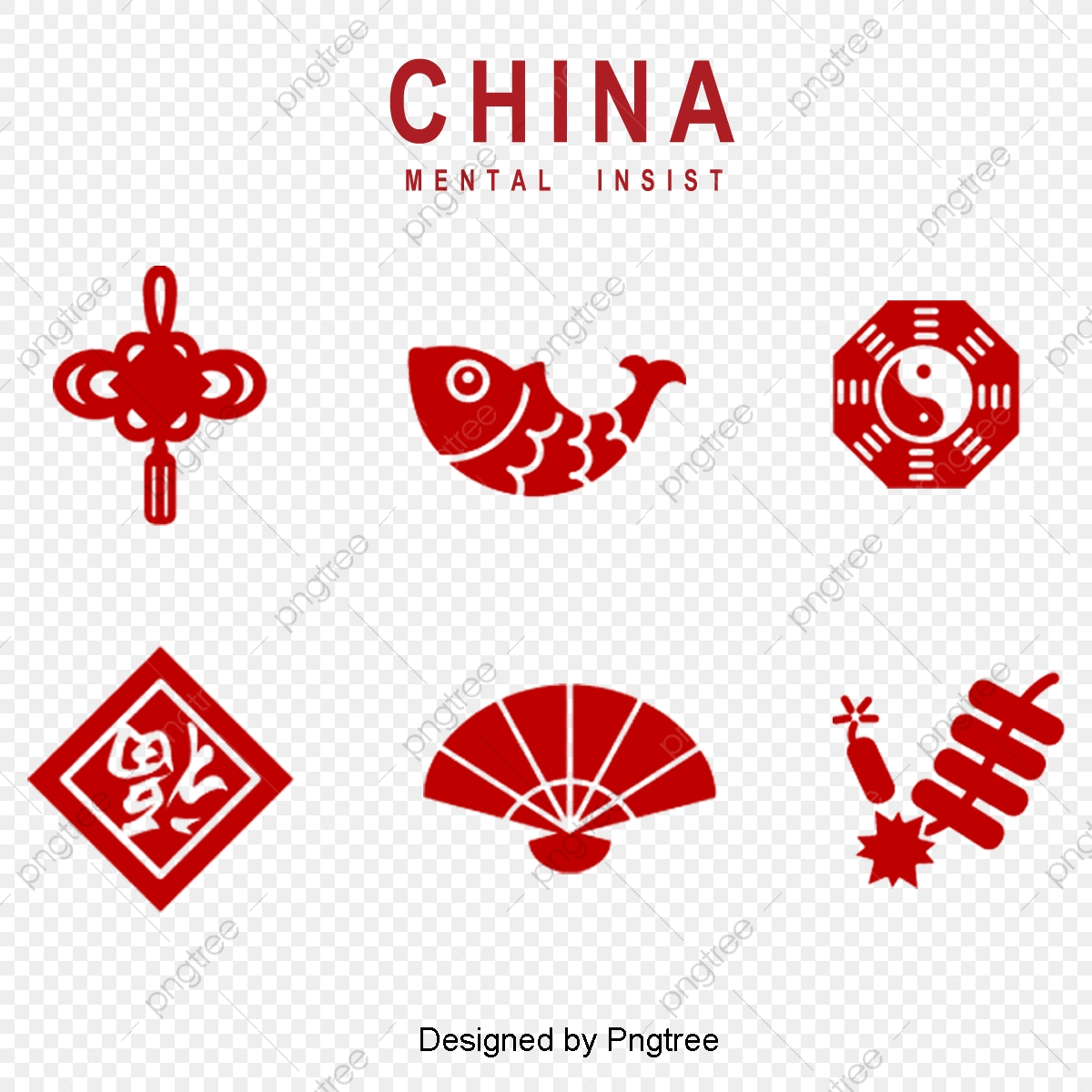 red traditional chinese elements