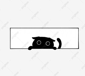Black Cat Window Cartoon Anime Board Painting Graphic Design Simple PNG Transparent Clipart Image and PSD File for Free Download