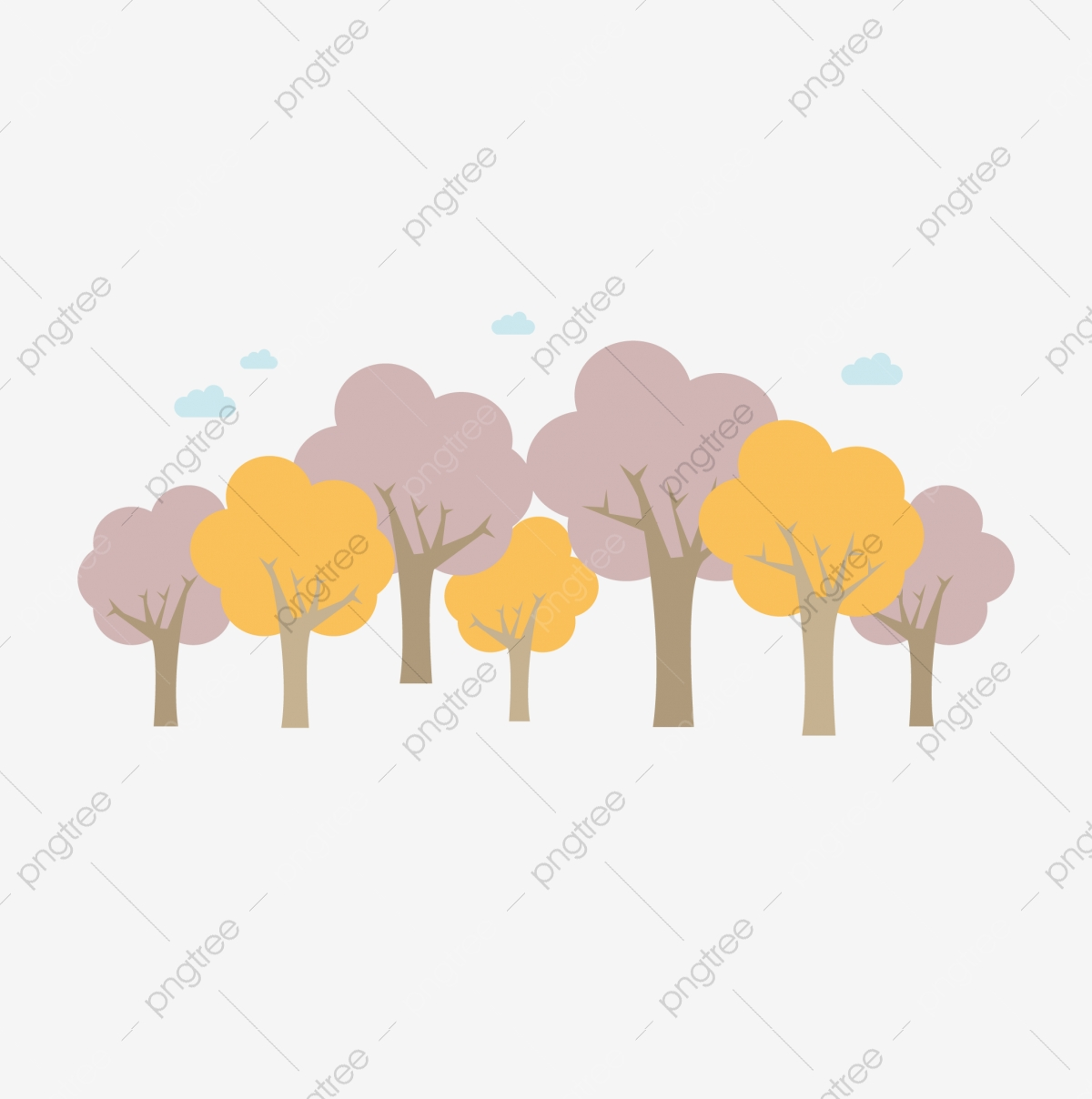 Dense forest animals clipart in ai, svg, eps or psd | download more vectors, cliparts and. Cartoon Cartoon Tree Cartoon Woods Forest Dense Dense Woods Autumn Color Png And Vector With Transparent Background For Free Download