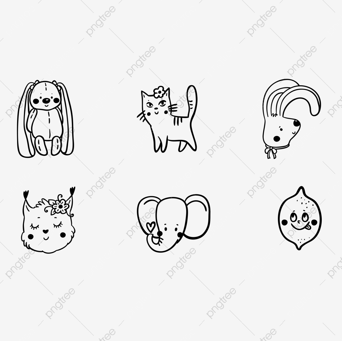 https fr pngtree com freepng small animal line drawing cute ai animal lovely 3943849 html