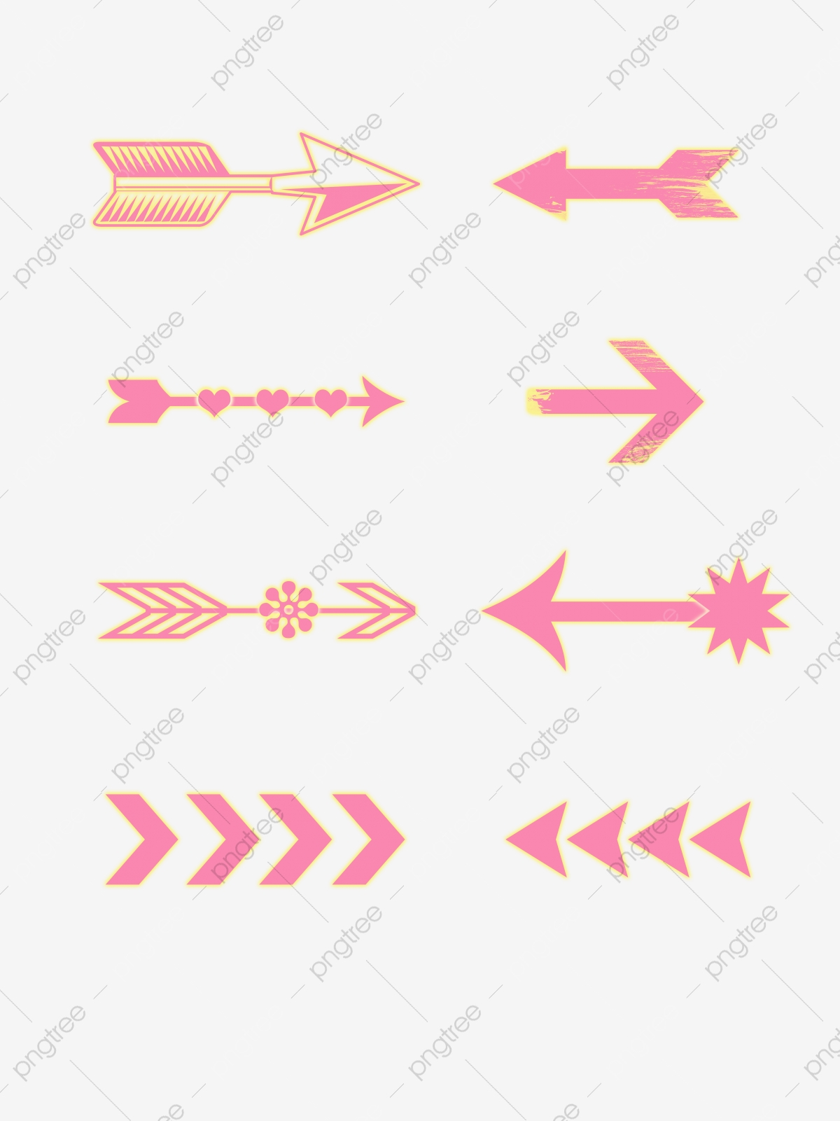 Girly Arrow : girly, arrow, Simple, Arrow, Decorative, Element, Design,, Simple,, Lovely,, Transparent, Clipart, Image, Download