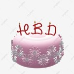 Pink Flowers Birthday Cake With Candles 3d Doodle Cake Happy Birthday Hbd Png Transparent Clipart Image And Psd File For Free Download