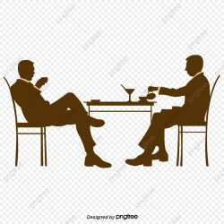 Silhouette Of Desks And Chairs In Business Mens Restaurant Element Silhouette Working PNG Transparent Clipart Image and PSD File for Free Download