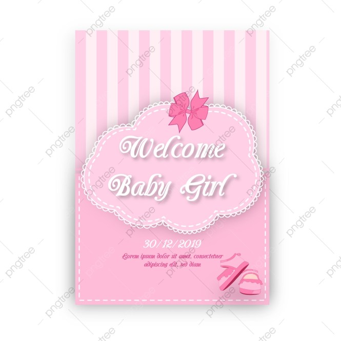 Vector Baby Shower Invitation Template
