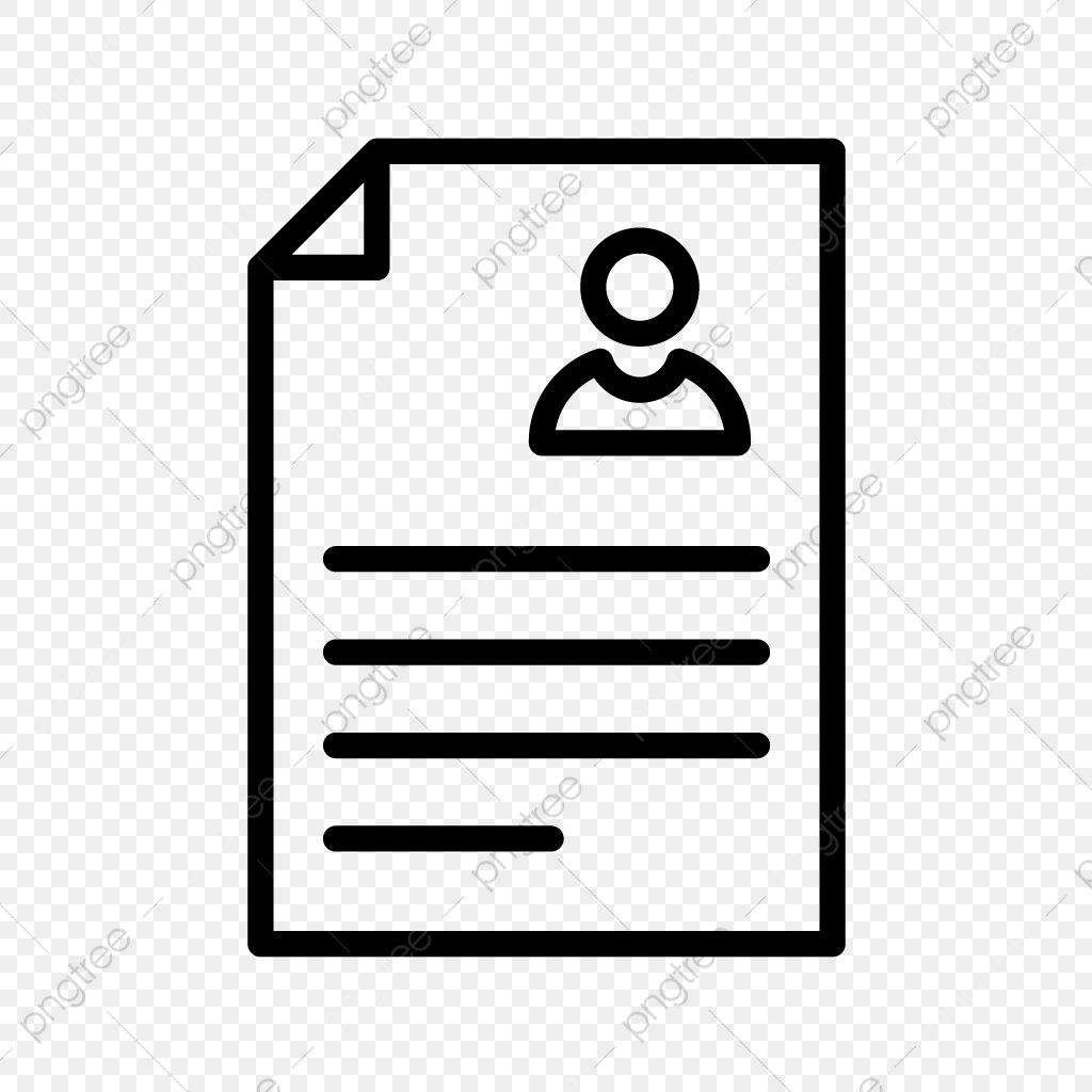 Vector Resume Icon, Contract, Cv, Document PNG and Vector