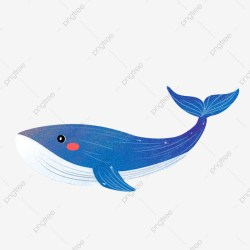 A Blue Cartoon Whale Free Button Cartoon Cute Blue Whale Free Illustration PNG Transparent Clipart Image and PSD File for Free Download