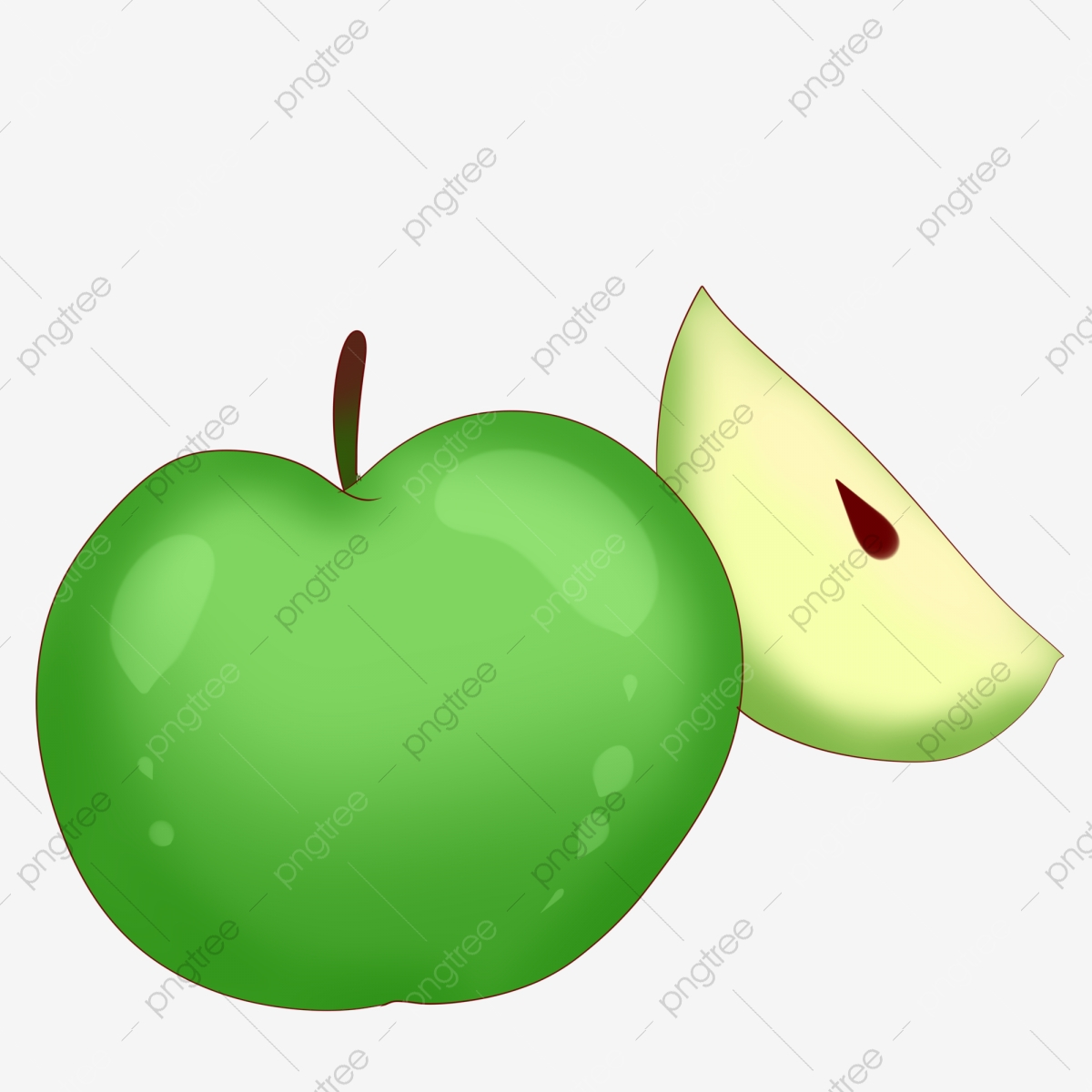 https fr pngtree com freepng green one and a half green apple 4537767 html