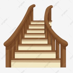 stairs ladder wooden illustration clipart cartoon transparent upgrade psd authorization license resource premium commercial plan pngtree