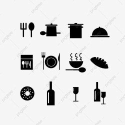 Icon Black And White Restaurant Icon Icon Black And White Restaurant Related Icons PNG Transparent Clipart Image and PSD File for Free Download