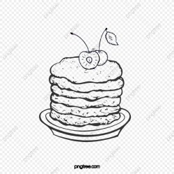 Black Hand Drawn Sketch Bread Biscuit Cherry Element Biscuits Cherry Fruit PNG Transparent Clipart Image and PSD File for Free Download