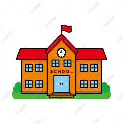 School Building Vector Illustration School Building Cartoon Vector Building School PNG and Vector with Transparent Background for Free Download