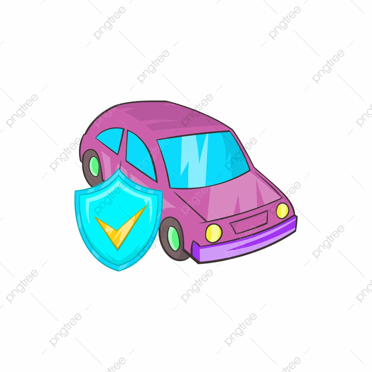 Car Insurance Icon In Cartoon Style Car Icons Style Icons Cartoon Icons Png And Vector With Transparent Background For Free Download