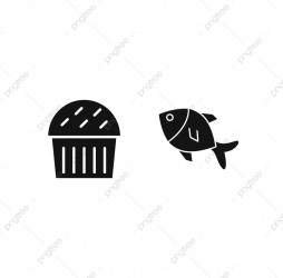 Set Of 2 Food Icons On White Background Vector Isolated Elements Food Icons White Icons Background Icons PNG and Vector with Transparent Background for Free Download