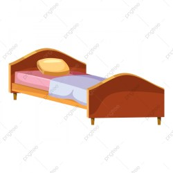 Single Wooden Bed Icon Cartoon Style Style Icons Cartoon Icons Bed Icons PNG and Vector with Transparent Background for Free Download